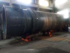 生产中的整包秸秆气火转化炉