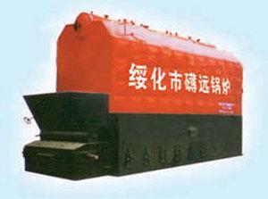 CSZL双锅筒生物质成型燃料热水锅炉
