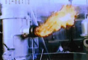 整包秸秆气火转化炉燃烧效果